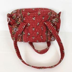 Vera Bradley Red Purse Floral Shoulder Bag Handbag